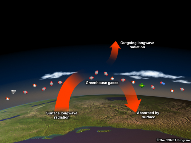 the effects of the greenhouse gasses on the environment